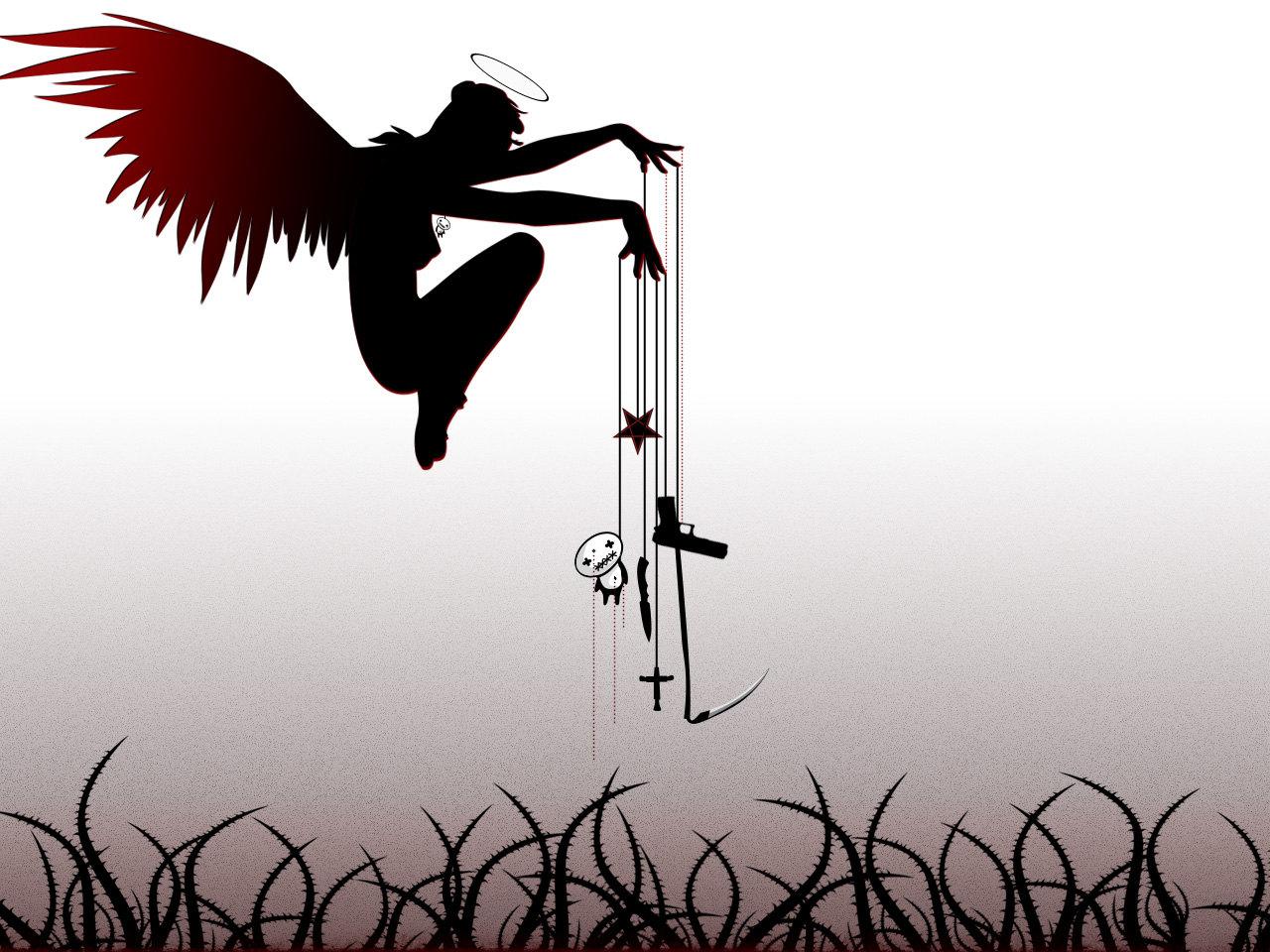 Я не бес, я - темный ангел. Угольным крылом укрою.