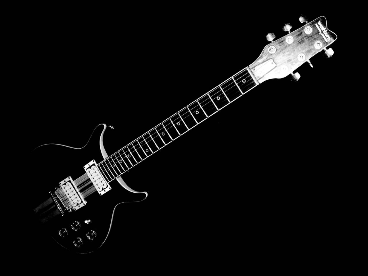 Black electric guitar hd wallpaper