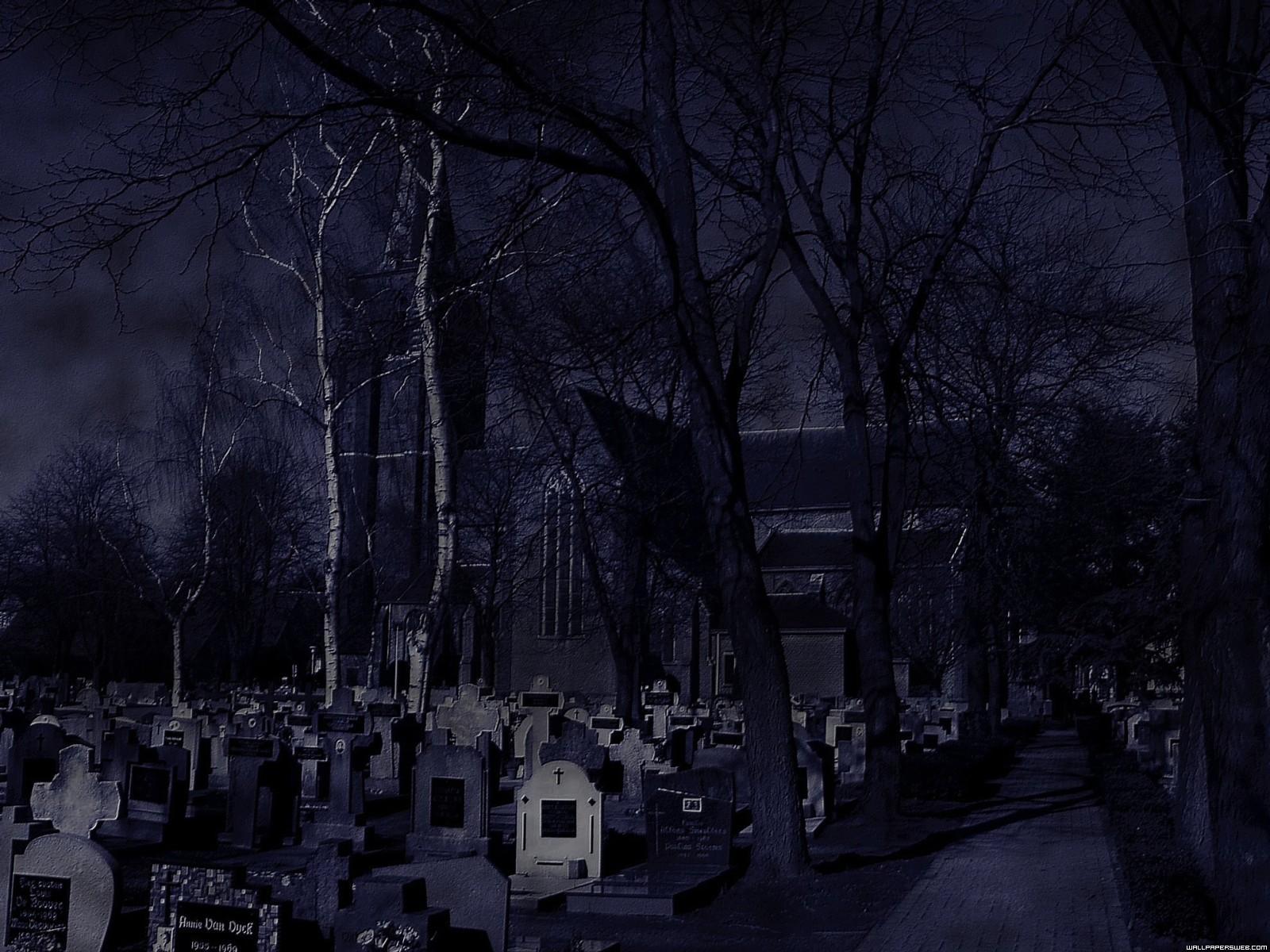 Картинки кладбище ночью, открытки